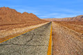 Road through red mountains in Timna park, Israel. Royalty Free Stock Image