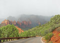 Road through red rocks Royalty Free Stock Photo