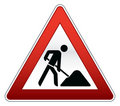 Road repair sign Stock Image