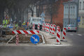 Road repairs and signs