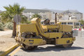 Road- roller in Rethymno, Crete Royalty Free Stock Photo