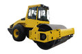 Road roller under the white background Royalty Free Stock Photos