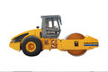 Road roller under the white background Stock Photos
