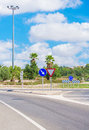 Road and roundabout on the the balearic islands Royalty Free Stock Photos