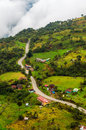 Road running the a high altitude valley in cundinamarca colombia Stock Image