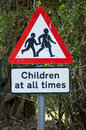 Road safety sign Royalty Free Stock Photo