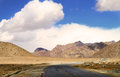 Road scenery beautiful shot of in leh ladhak in india Stock Images