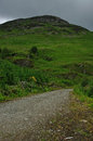 Road into the scottish highlands in St. Fillans Stock Images