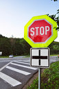 Road security, stop traffic sign Royalty Free Stock Image