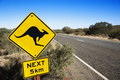 Road sign Australia Stock Photography