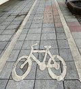 Road Sign for Bicycle Lane Royalty Free Stock Photo