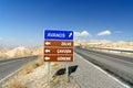 Road sign in Cappadocia. Turkey Royalty Free Stock Photo