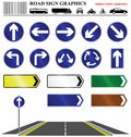 Road sign direction arrows Stock Photos