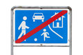 Road sign end of the living area Royalty Free Stock Photo