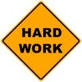Road Sign Hard Work