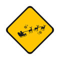 Road sign Santa Royalty Free Stock Photo