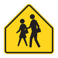 Road Sign Warning - School Royalty Free Stock Photos