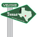 Road sign Welcome to Texas