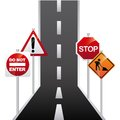 Road signal design graphic vector illustration Stock Images