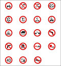 Road Signs & Indicators Stock Photo