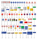 Road Signs and Symbols Royalty Free Stock Photo