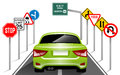 Road Signs, Traffic Signs, Transportation, Safety, Travel Royalty Free Stock Photo