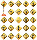 Road Signs, Traffic Signs, Warning Signs, Transportation, Safety Royalty Free Stock Photo