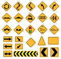 Road signs traffic vector set warning Stock Images