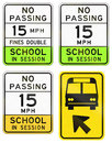 Road signs used in the US state of Arizona Royalty Free Stock Photo