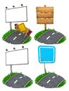 Road Sing Concepts - Set of 3D Illustrations. Royalty Free Stock Photo