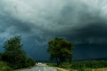A Road And Storm Sky