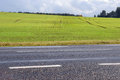 Road and summer landscape Royalty Free Stock Images