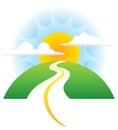 Road Sun Logo