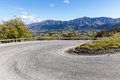 Road to arrow town curve new zealand Stock Photo