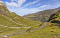 The Road to Circus of Troumouse - Pyrenees Mountains Royalty Free Stock Photo