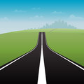 Road to city vector illustration of a long the great Stock Images
