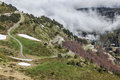Road to col de pailheres images of the m located in pyrenees mountains Royalty Free Stock Images