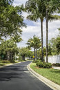 Road to community buildings in naples south florida Stock Photography