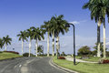 Road to community in naples florida Royalty Free Stock Image