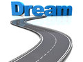 Road to dream abstract d illustration of asphalt sign Stock Images