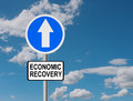 Road to economic recovery business financial concept one way Royalty Free Stock Photos