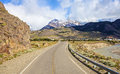 Road to El Chalten in Argentina. Royalty Free Stock Photo