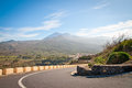 Road to freedom a that leads the el teide on tenerife spain Stock Photography