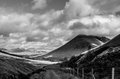Road to glen coe view from the scotland Royalty Free Stock Image