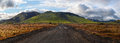 Road to green volcano, Landmannalaugar, Iceland. Royalty Free Stock Photo