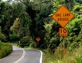 Road to hana maui sign on the Royalty Free Stock Image