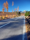Cesta do Vysokých Tatier zo Štrby na jeseň