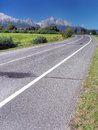 Road to High Tatras in summer