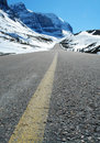 Road to icefield Royalty Free Stock Photo