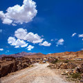 Road to kibber village one of the highest continuously inhabited villages himalaya mountains india Royalty Free Stock Photography